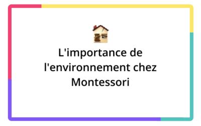 L'importance de l'environnement chez Montessori